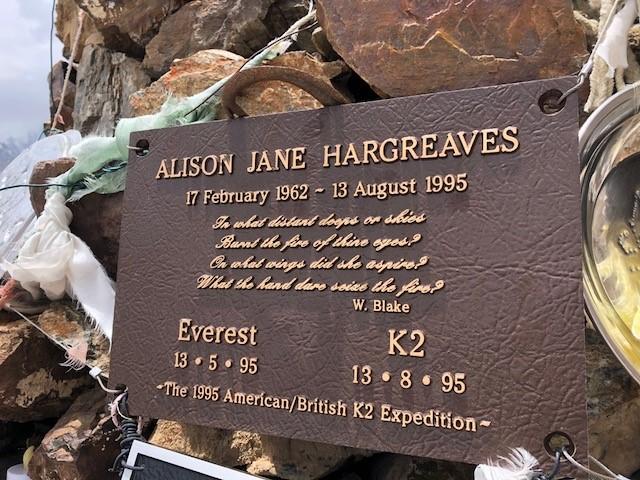 180715 06 Memorial to Alison Hargreaves - K2 world's second highest & deadliest peak in Pakistan