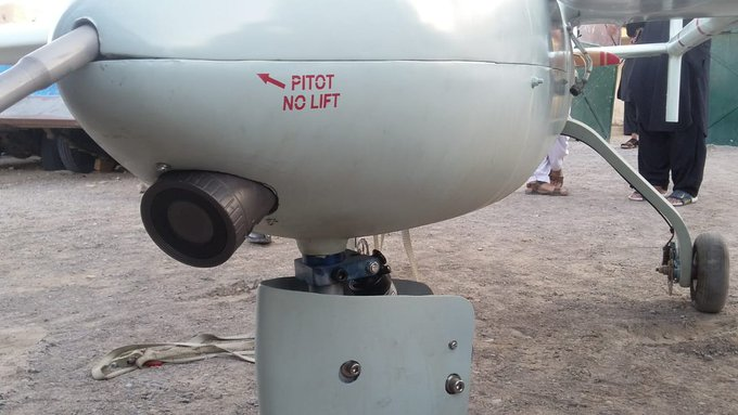 Pakistan capture Iranian mohjer 6 drone - Levies Force captures unknown origin spy drone in Balochistan