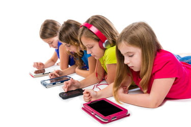 children smartphone tablet screens 375x375 - Impact of Communication Technology