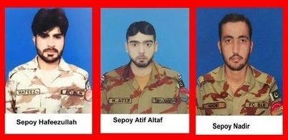 shaheeds of pak army - Pakistan Army's Capt. Aqib along with 3 soldiers embraced martyrdom