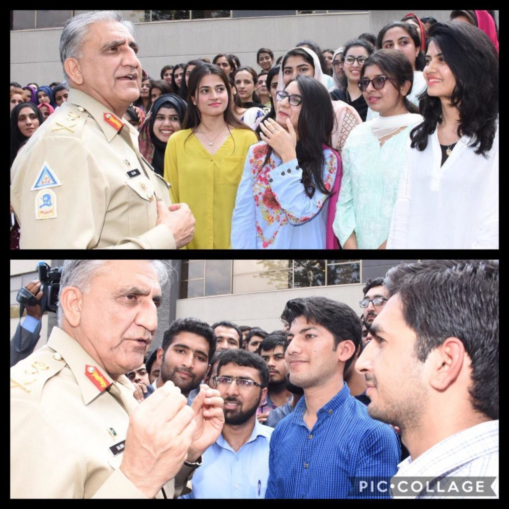 11488 1024x1024 - COAS General Bajwa interacted with youth undergoing annual internship program at ISPR