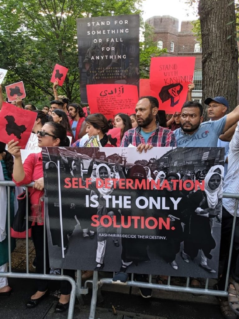Newyork 1 768x1024 - Protests around the globe for Occupied Kashmir against India's decision