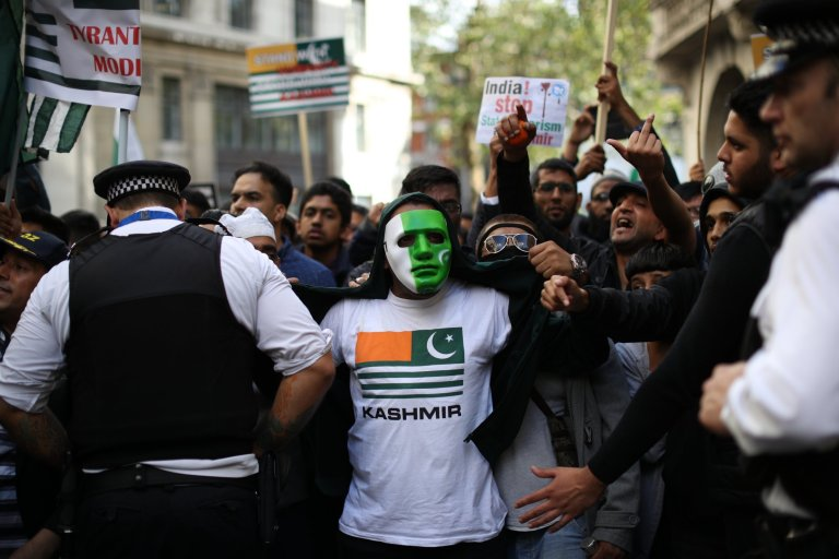 UK Getty images - Protests around the globe for Occupied Kashmir against India's decision