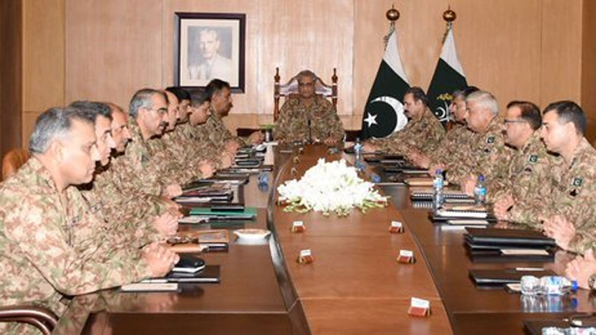 corps commanders - Pak Army ready to go to any extent for Kashmiris