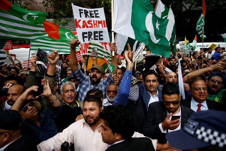 protest for kashmir 3 - Protests around the globe for Occupied Kashmir against India's decision