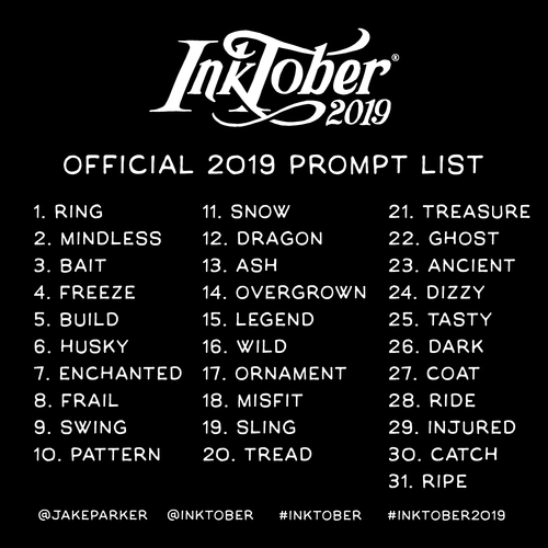 2019promptlist - Inktober 2019 Is Coming!