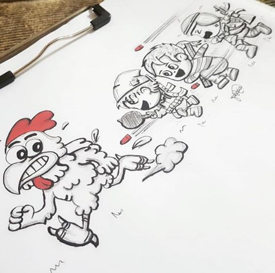 Inktober 2018 Chicken Zubaria Fakhar Daily Life Pakistan - Inktober 2019 Is Coming!